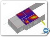 7 Annual solar gain analysis of the existing building (first floor)